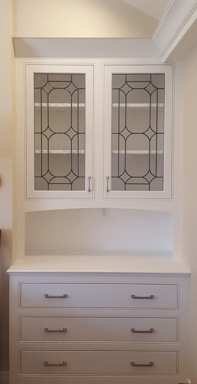 Cabinet Doors Inserts Beveled Stained Glass Etched