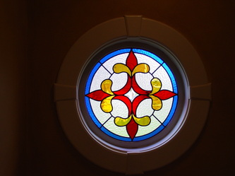 Window Design 7 A Round Colorful Fleur De Lis Window