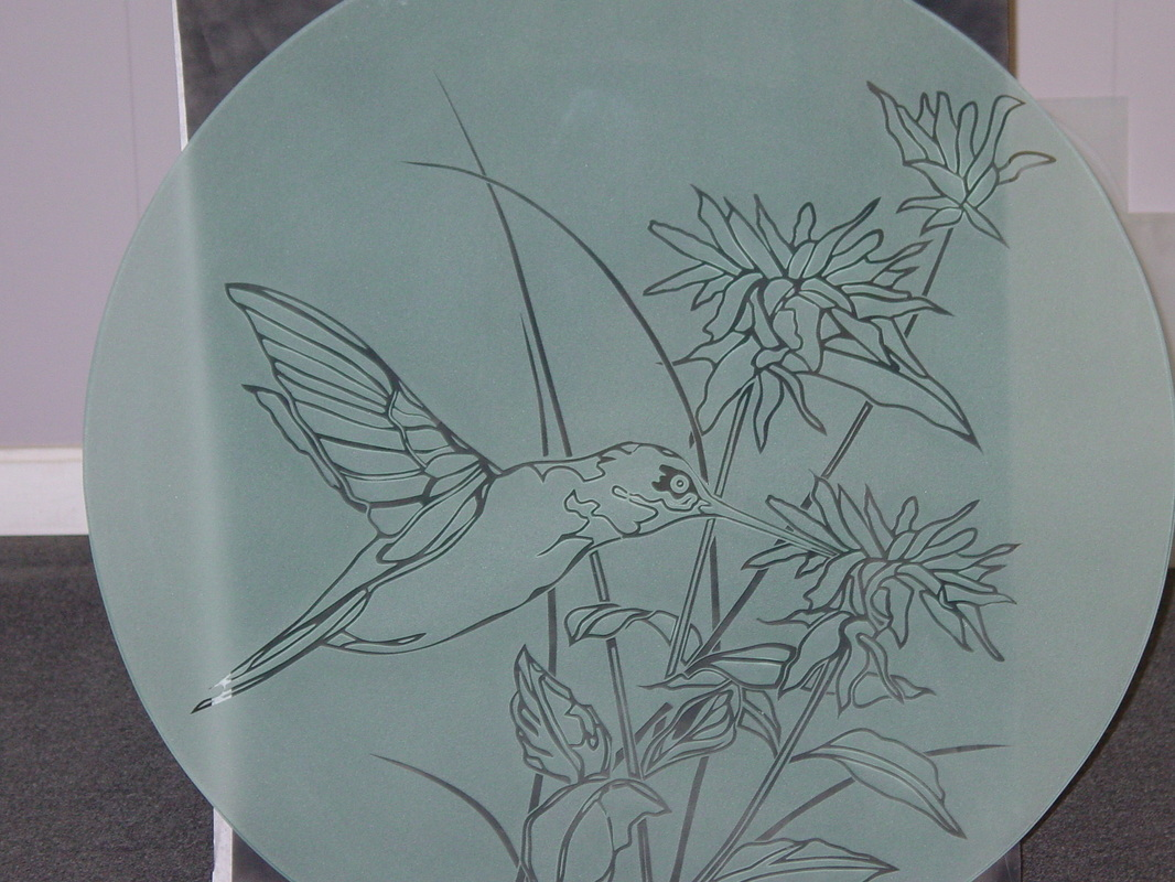 Humming Bird Round Glass Table Top Part 65