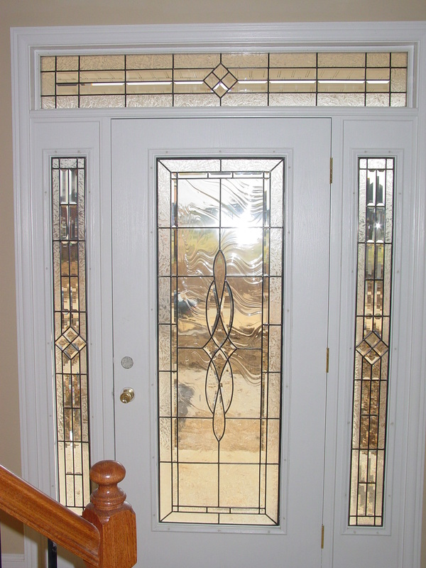 Beveled Glass Front Doors Leaded Stained Glass Entry Inserts