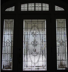 Beveled Glass Front Doors, Leaded, Stained Glass, Entry, Inserts   Brooks  Beveled Edges