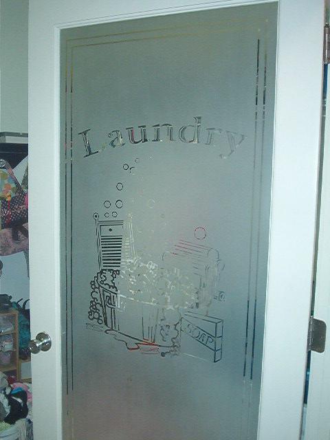 Etched glass awards windows doors custom design kitchens laundry room door planetlyrics Images