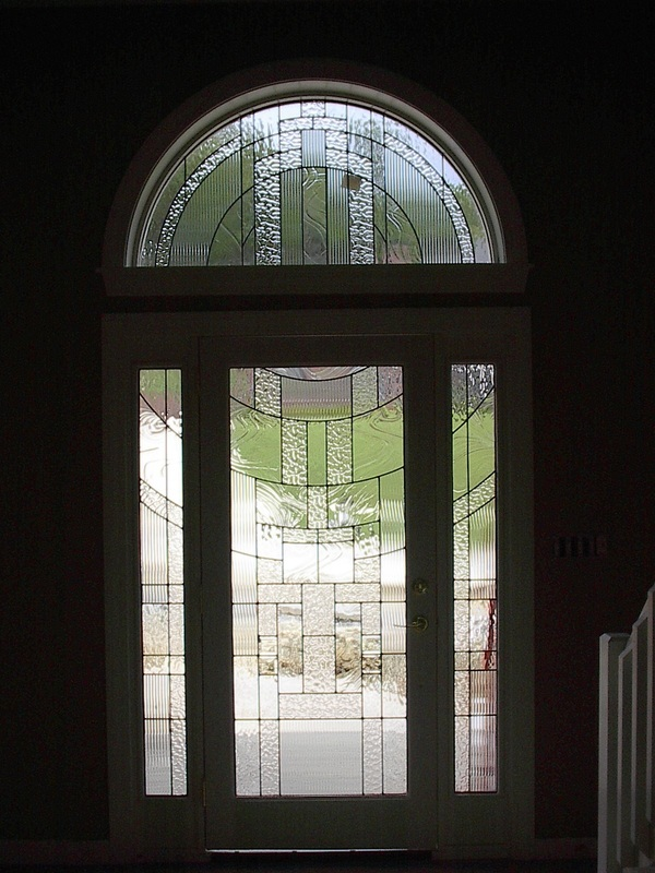 Beveled Glass Front Doors Leaded Stained Glass Entry